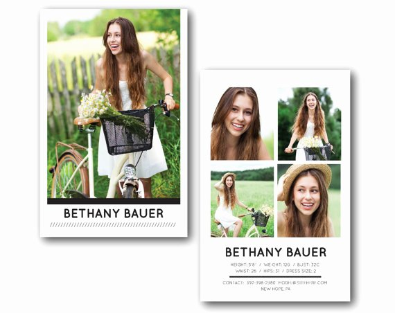 Comp Card Template Psd Download Best Of Customizable Digital Model P Card Modern Model Model