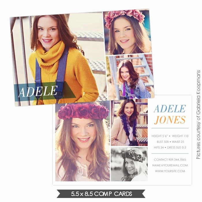 Comp Card Template Psd Download Best Of Instant Dowload Modeling P Card Shop Templates
