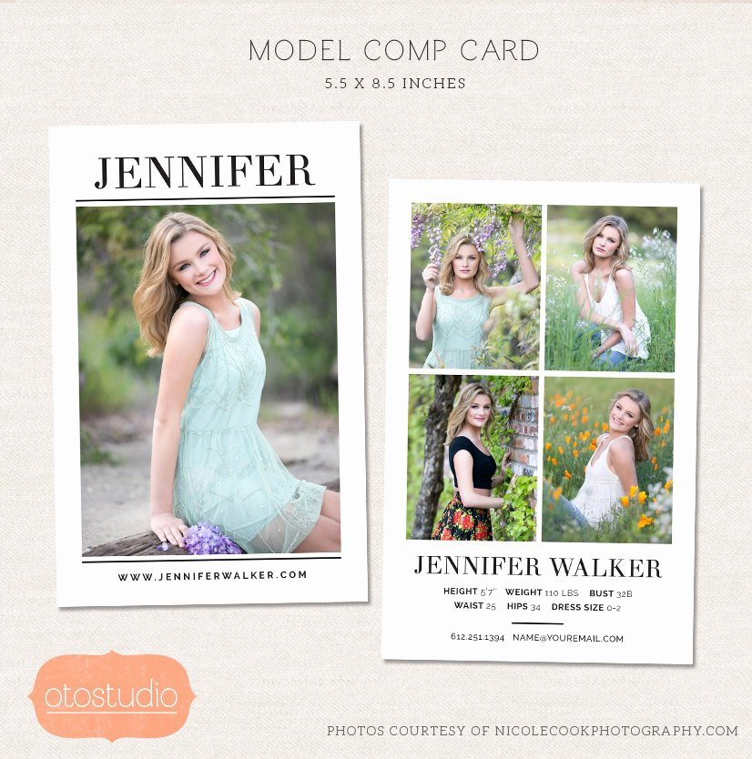 Comp Card Template Psd Download Fresh Model P Card Shop Template Simple Chic Cm004