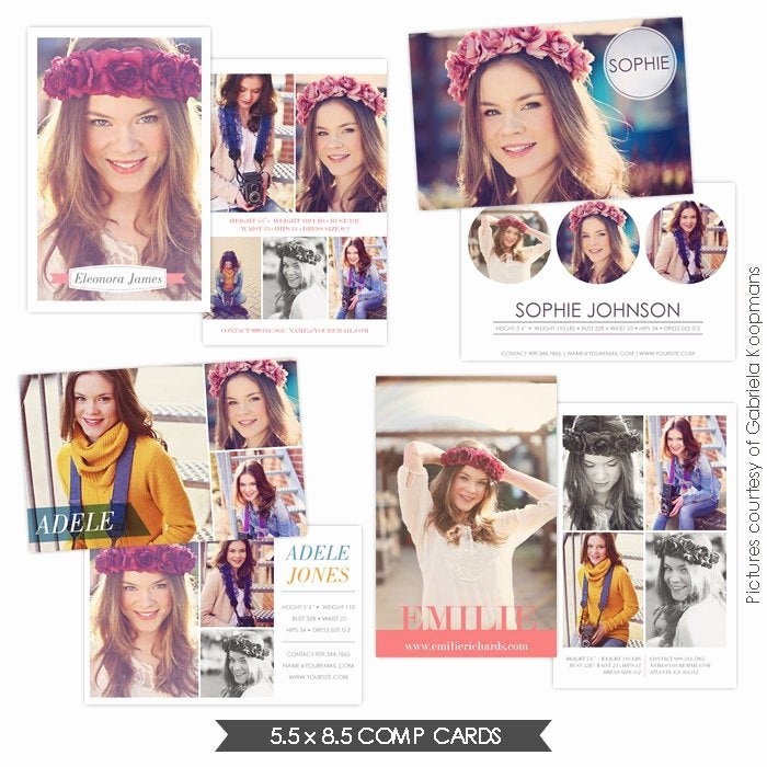 Comp Card Template Psd Download Inspirational Instant Download Modeling P Cards Shop Templates