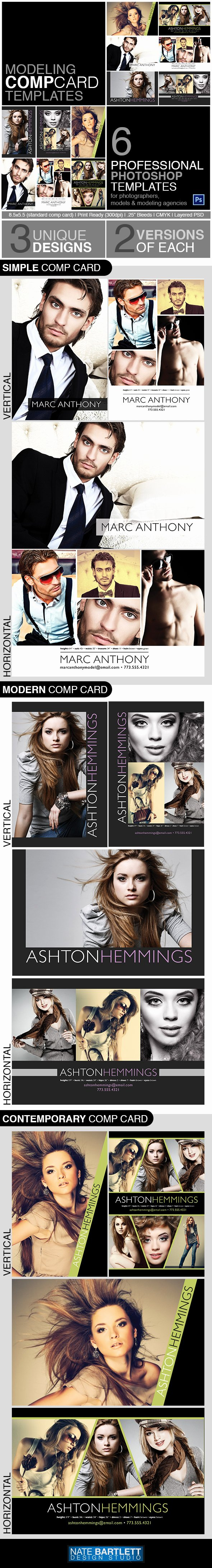 Comp Card Template Psd Download Lovely Model P Card Template Kit Preview by Natebelow0 On