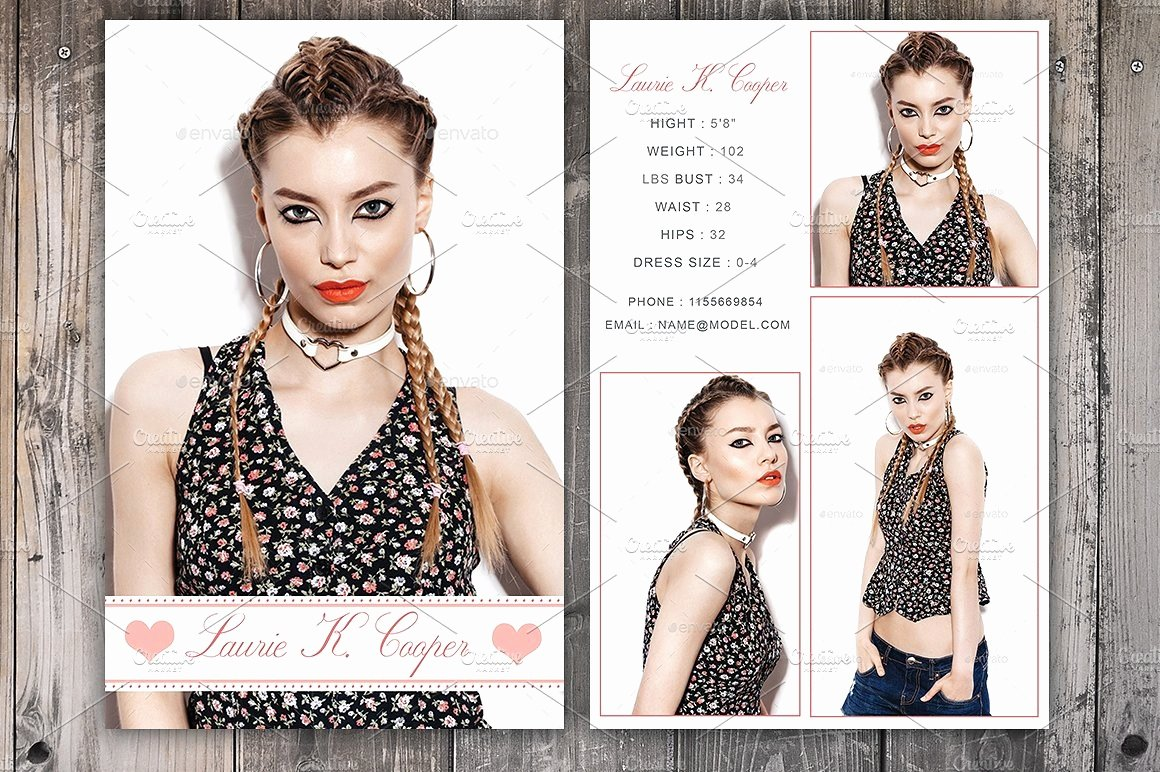Comp Card Template Psd Download Luxury Modeling P Card Template Shop Psd Instant Download