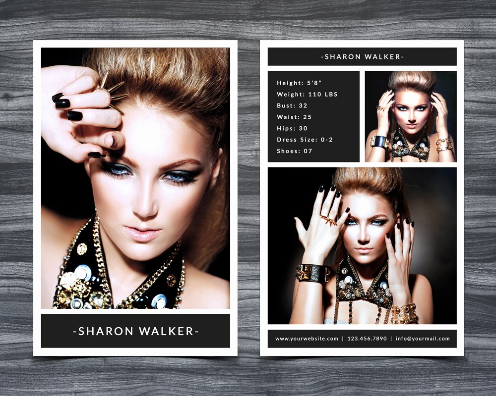 Comp Card Template Psd Download New Model P Card Template