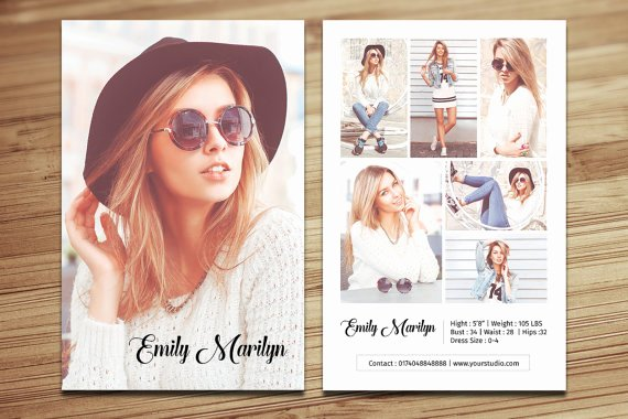 Comp Card Template Psd Download New Modeling P Card Template Fashion Model P Card