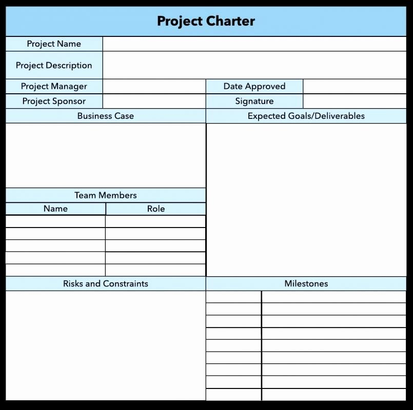 Company Charter Template Awesome Project Charter Example Template