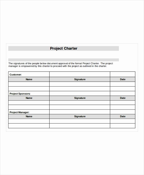 Company Charter Template Best Of 20 Project Templates Free Sample Example format