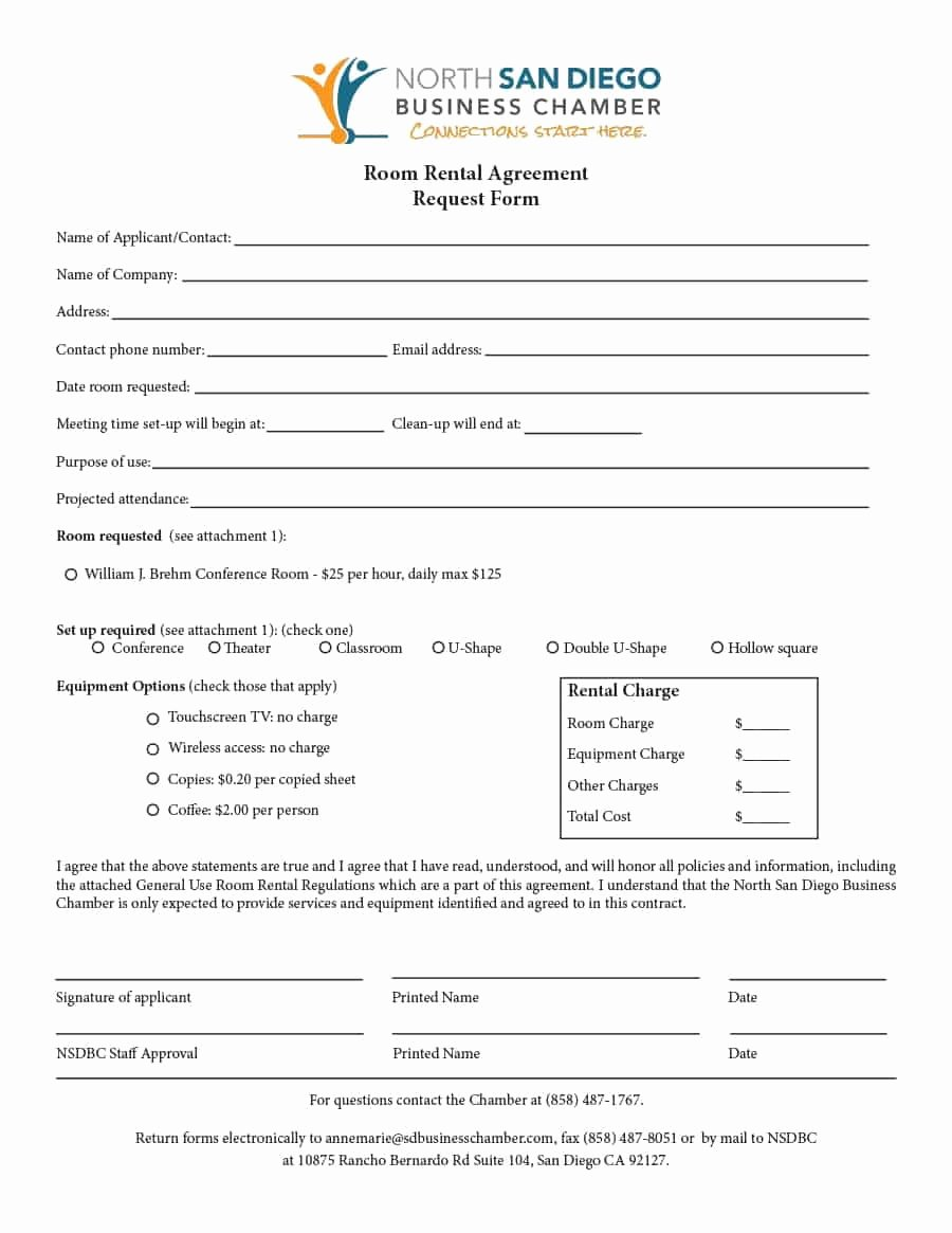 Company Equipment Use and Return Policy Agreement Elegant 39 Simple Room Rental Agreement Templates Template Archive