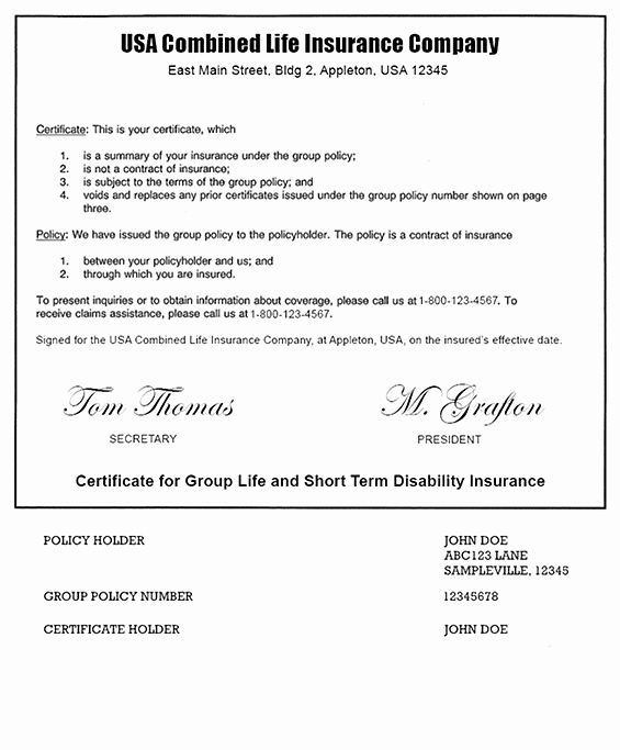 Company Equipment Use and Return Policy Agreement Elegant Example A Term Life Insurance Policy