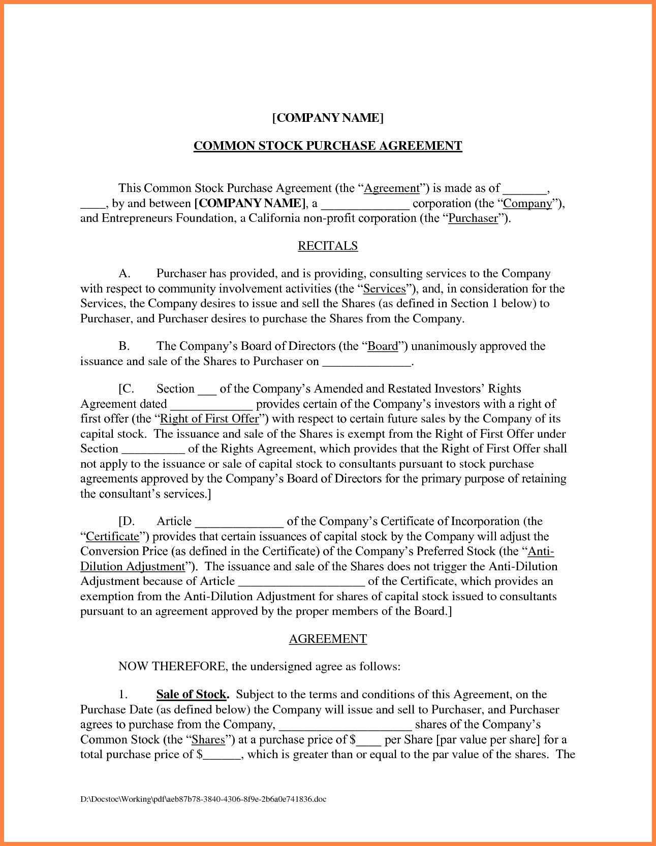Company Equipment Use and Return Policy Agreement Fresh 3 Business Agreement Template Between Two Parties