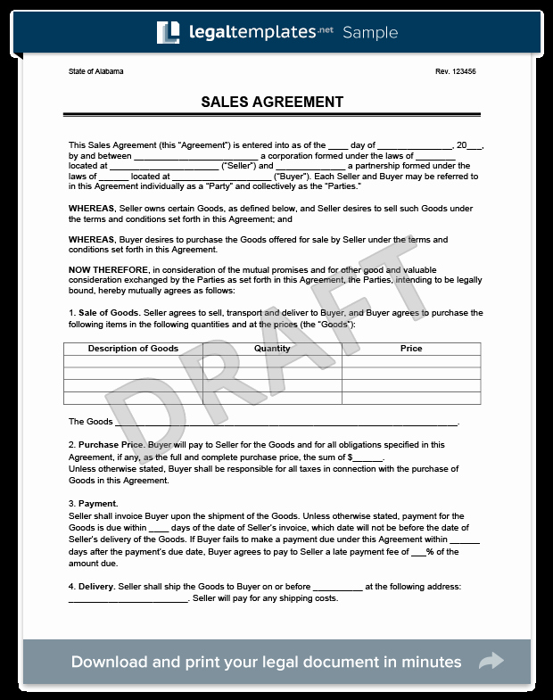 Company Equipment Use and Return Policy Agreement Unique Sales Agreement Create A Free Sales Agreement form