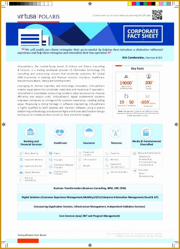 Company Fact Sheet Example Awesome 3 Pany Fact Sheet Template