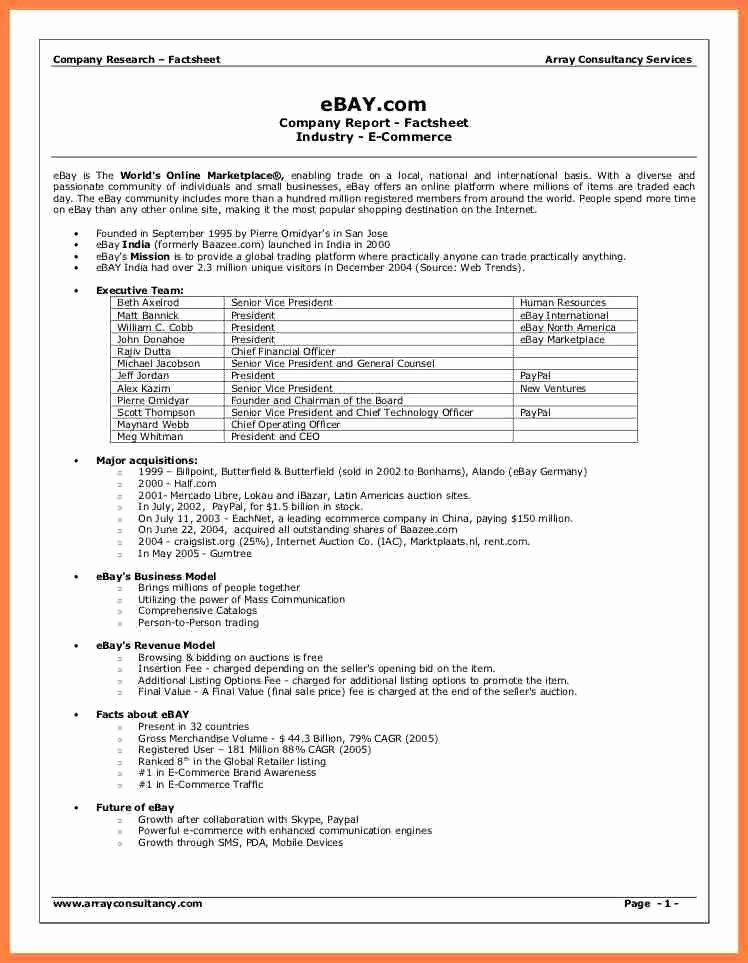 Company Fact Sheet Example Best Of 8 Pany Fact Sheet Template