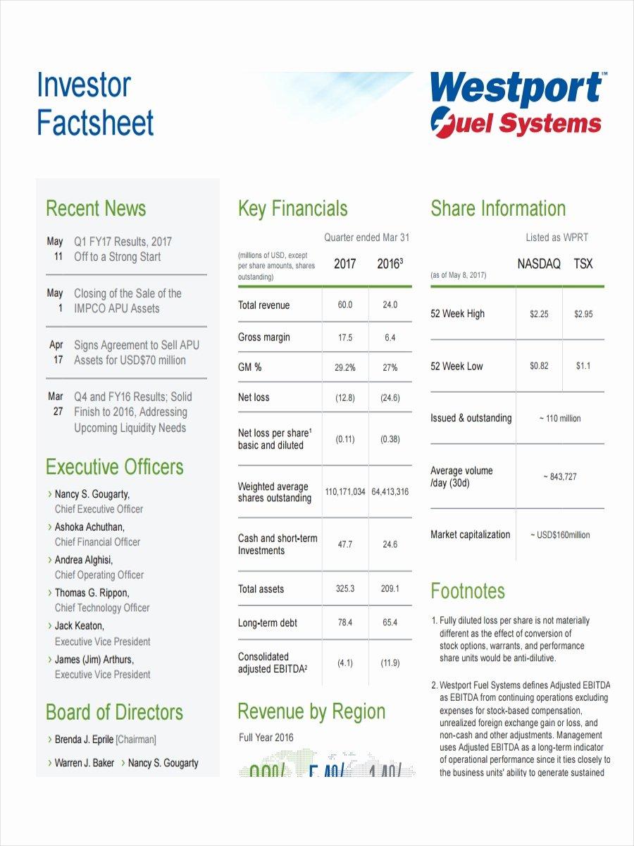 Company Fact Sheet Example Elegant 19 Examples Of Fact Sheets