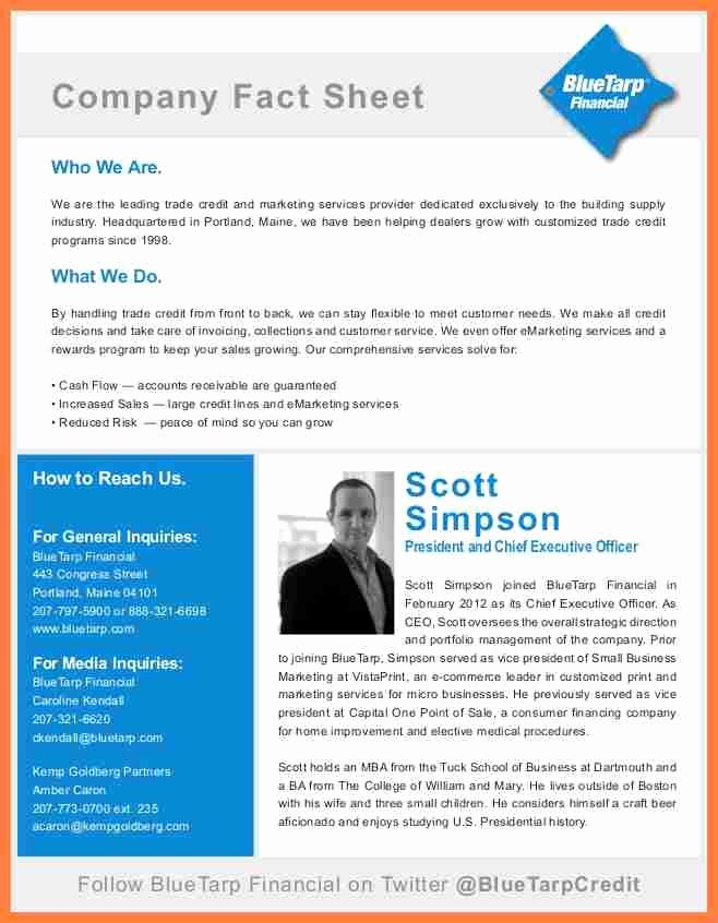 Company Fact Sheet Example Inspirational 8 Pany Fact Sheet Template