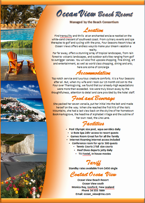 Company Fact Sheet Example New Make A Brochure Factsheet that Rocks Microsoft Word