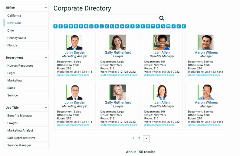 Company Phone Directory Template Beautiful Build A Corporate Directory with Point Search Gate