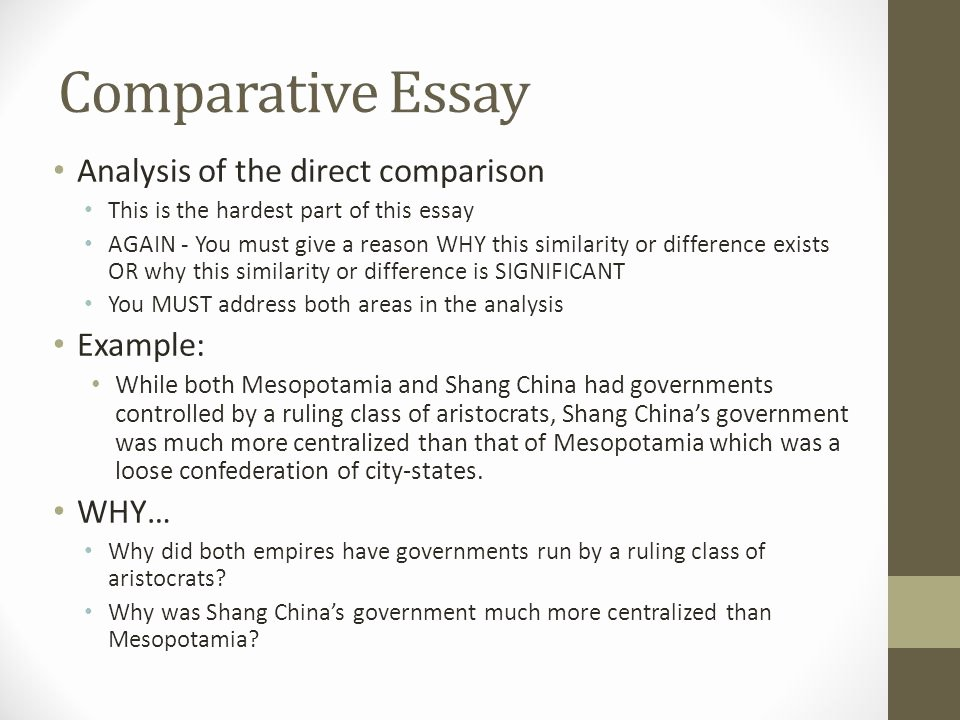 Comparative Critique Essay Example Luxury Parative Essay Another Skill Historians attempt to