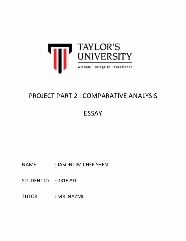 Comparative Critique Essay Example New Parative Analysis Essay
