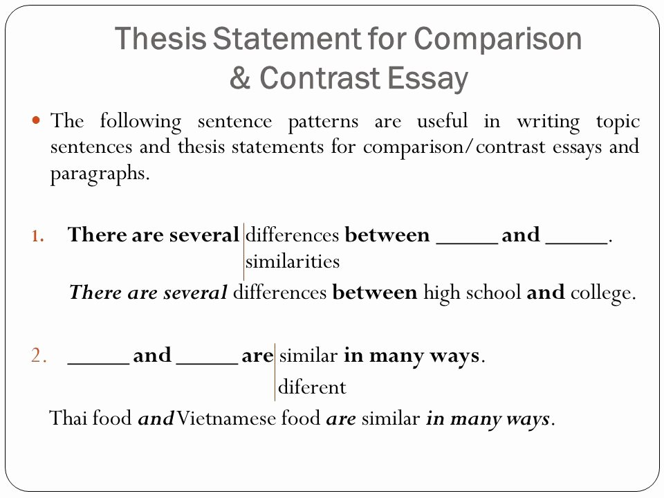 Compare and Contrast Conclusion Example Awesome Parison & Contrast Essay Ppt
