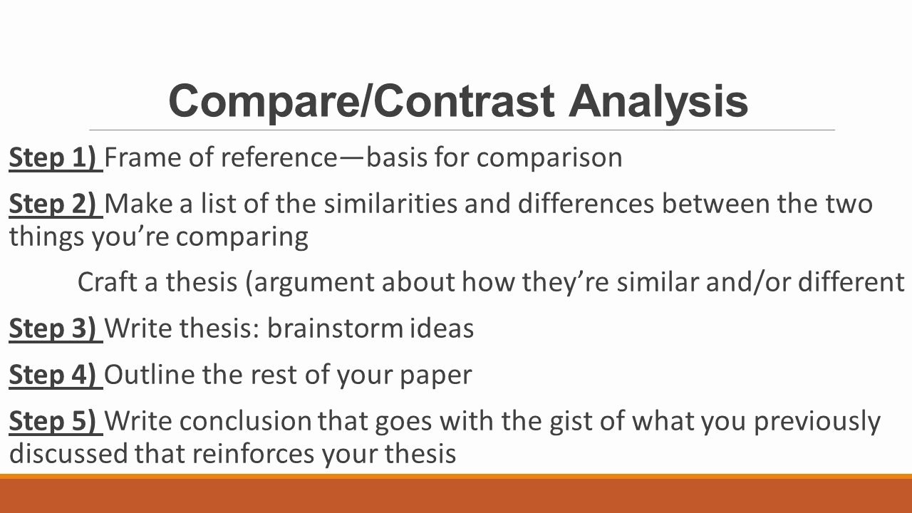 Compare and Contrast Conclusion Example Beautiful Pare Contrast Essay Structure Ppt Video Online