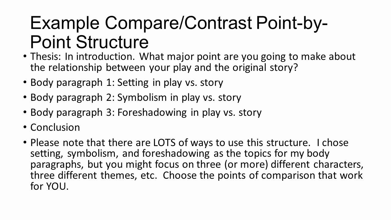 Compare and Contrast Conclusion Example Best Of Writing A Pare Contrast Essay About Literature Ppt