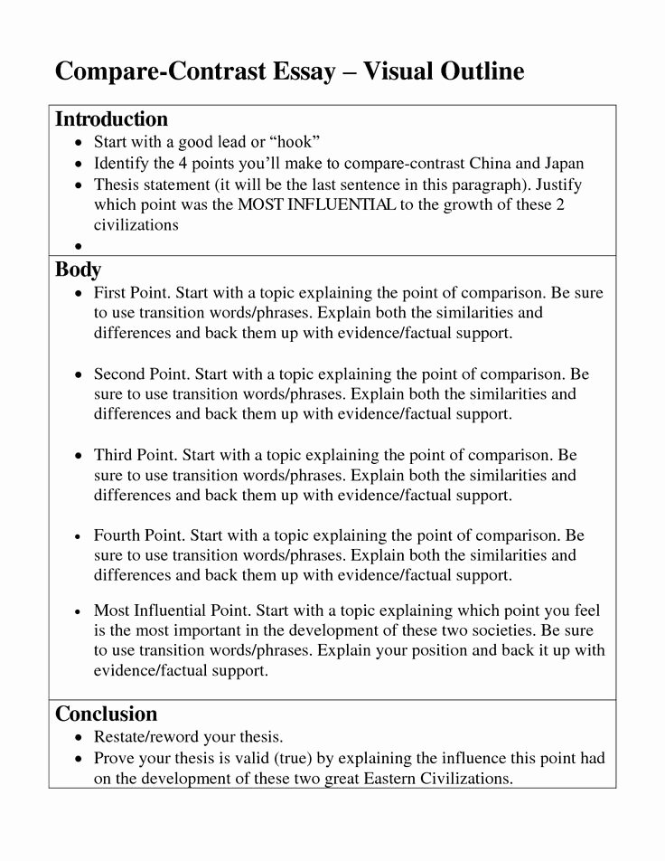 Compare and Contrast Conclusion Example Fresh Pare and Contrast Essay