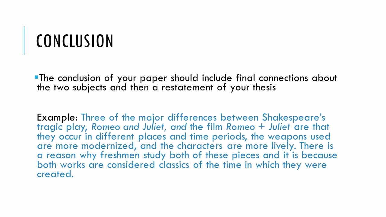 Compare and Contrast Conclusion Example Inspirational How to Write A Pare Contrast Essay Ppt Video Online