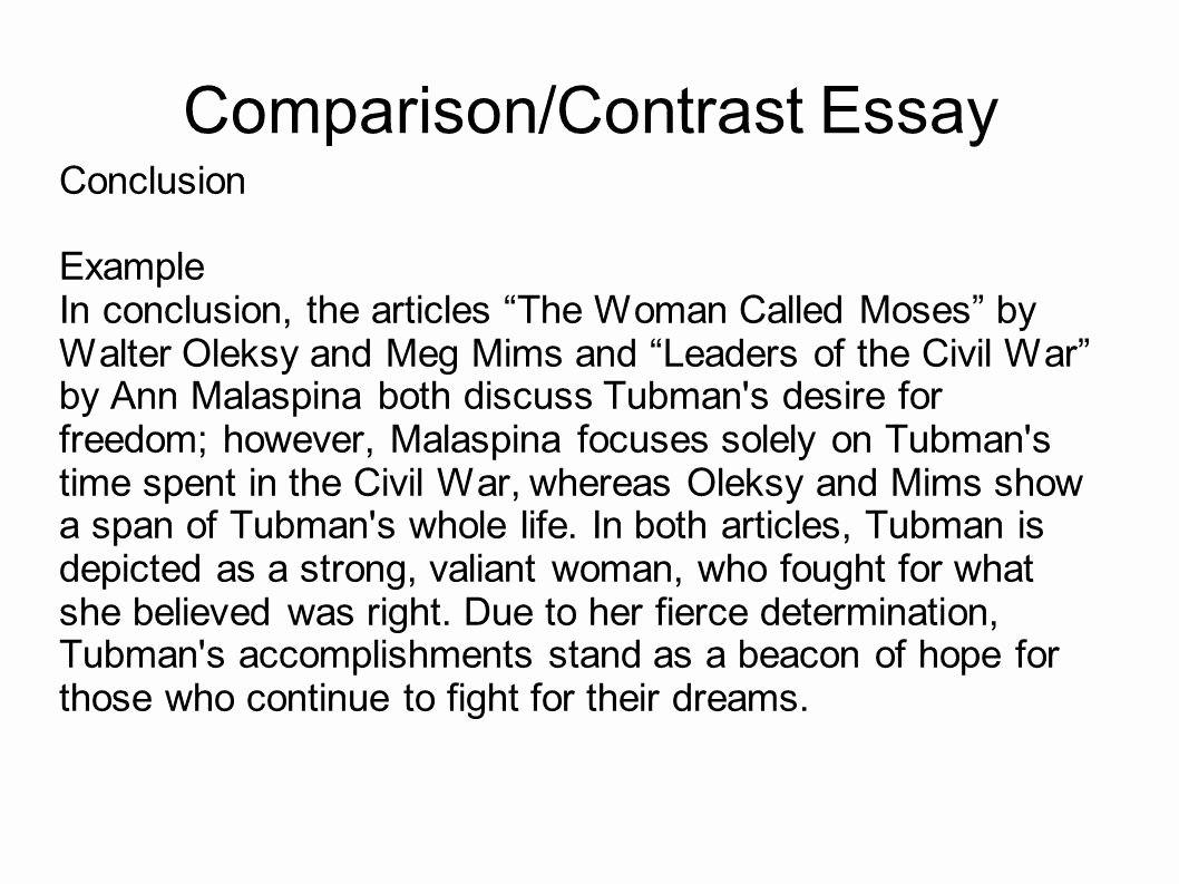 Compare and Contrast Conclusion Example Lovely Writing Portfolio with Mr butner Ppt Video Online