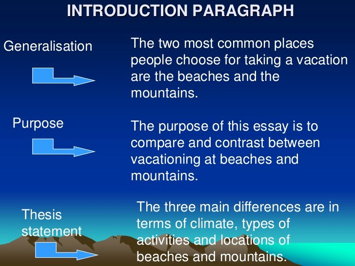 Compare and Contrast Introduction Paragraph Awesome Pare and Contrast Essay