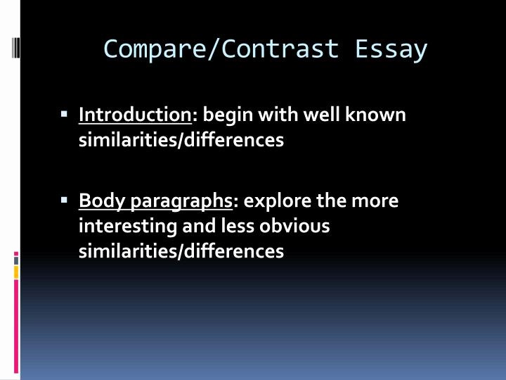 Compare and Contrast Introduction Paragraph Best Of Ppt Pare and Contrast Powerpoint Presentation Id