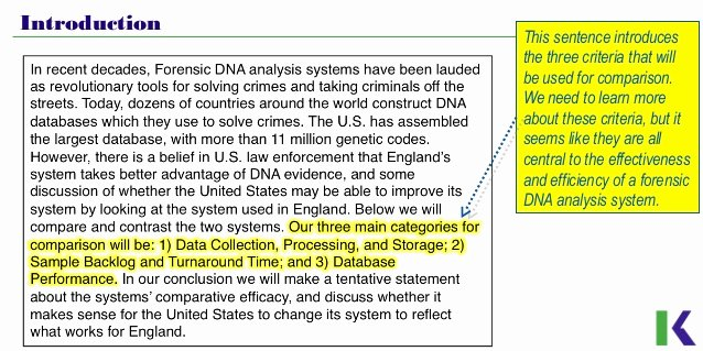 Compare and Contrast Introduction Paragraph Lovely Analyzing Pare and Contrast Essays Dna Profiling
