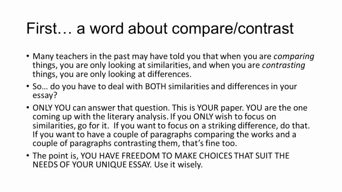 Compare and Contrast Introduction Sample Beautiful How to Start A Parison and Contrast Essay How to Write