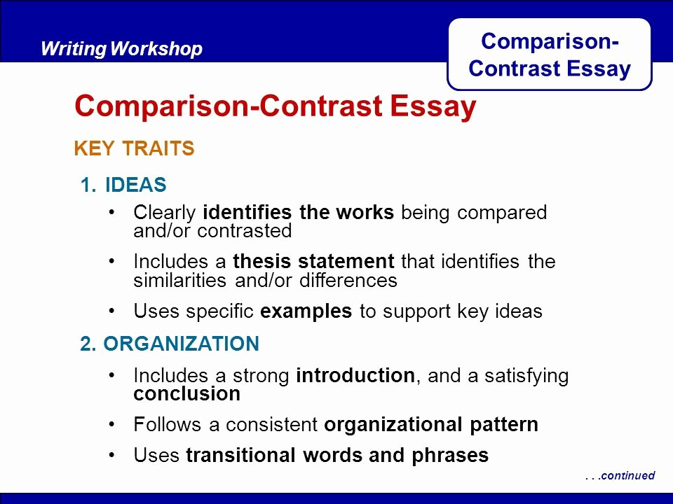 Compare and Contrast Introduction Sample Beautiful Parison Contrast Essay Ppt