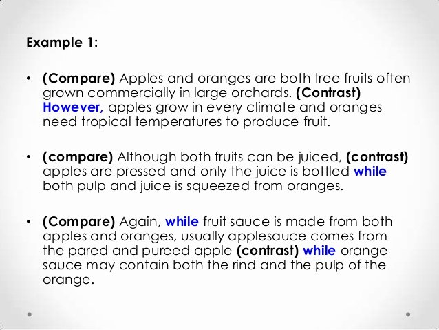 Compare and Contrast Introduction Sample Best Of Pare and Contrast