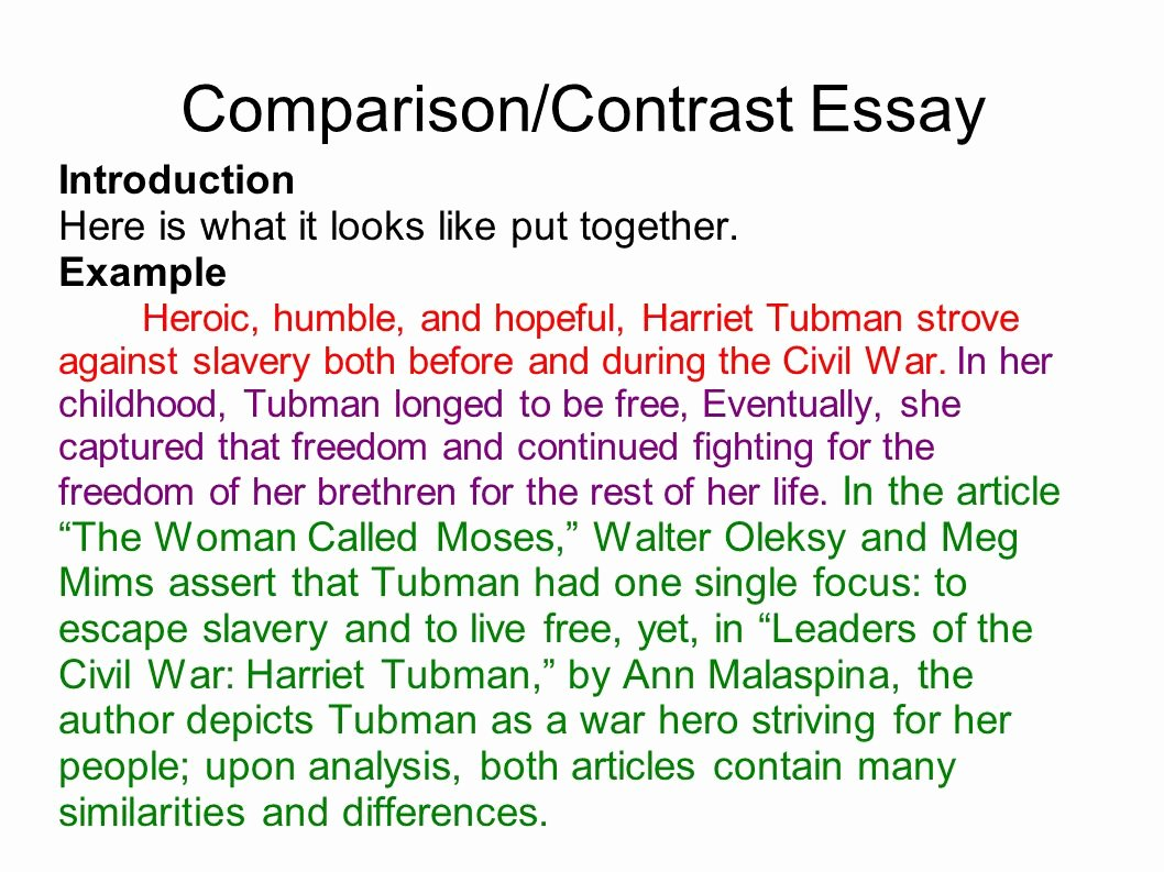 Compare and Contrast Introduction Sample Elegant Writing Portfolio with Mr butner Ppt Video Online