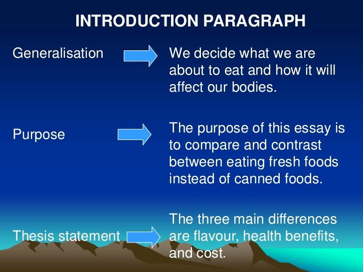 Compare and Contrast Introduction Sample Fresh Pare and Contrast Essay