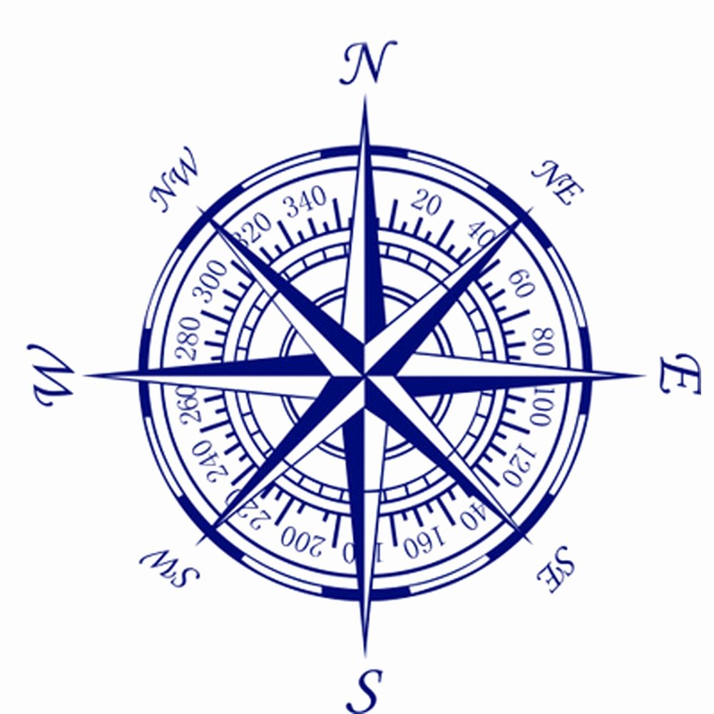 Compass Rose Print Out Beautiful Pass Nautical Pass Rose Wall Art Stickers Decals