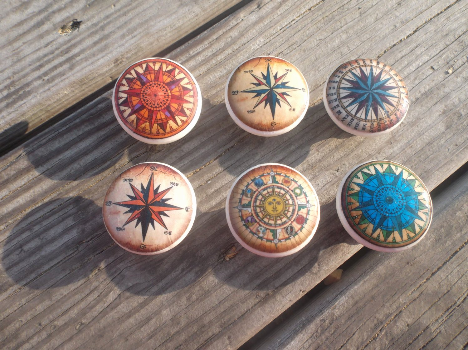 Compass Rose Print Out Best Of Pass Rose Print 1 5 Dresser Drawer Knob by Twistedrdesign