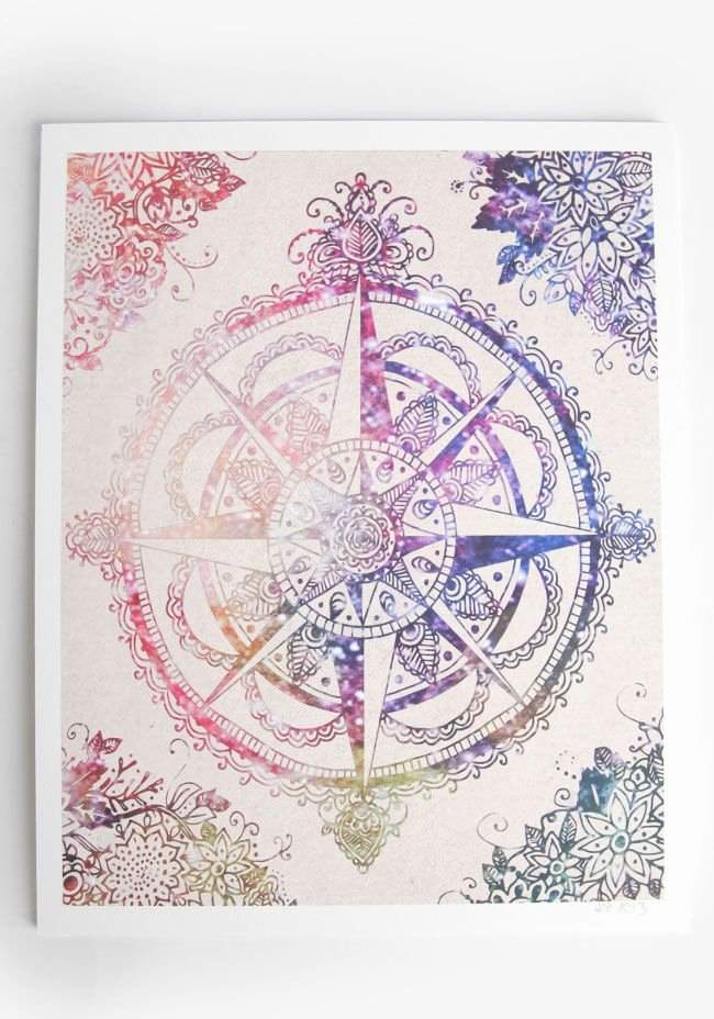 Compass Rose Print Out Fresh Voyager Pass In Rose Print at Threadsence