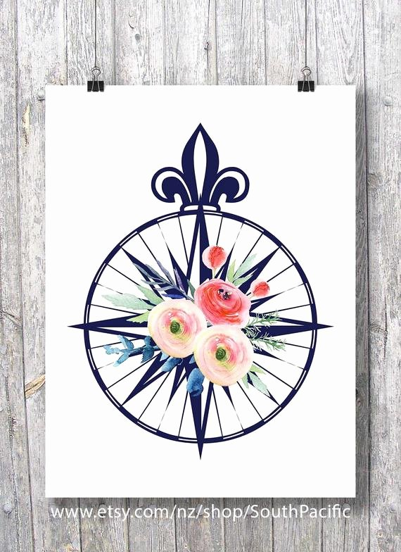 Compass Rose Print Out Lovely Pass Rose Watercolor Flowers Roses Printable Art