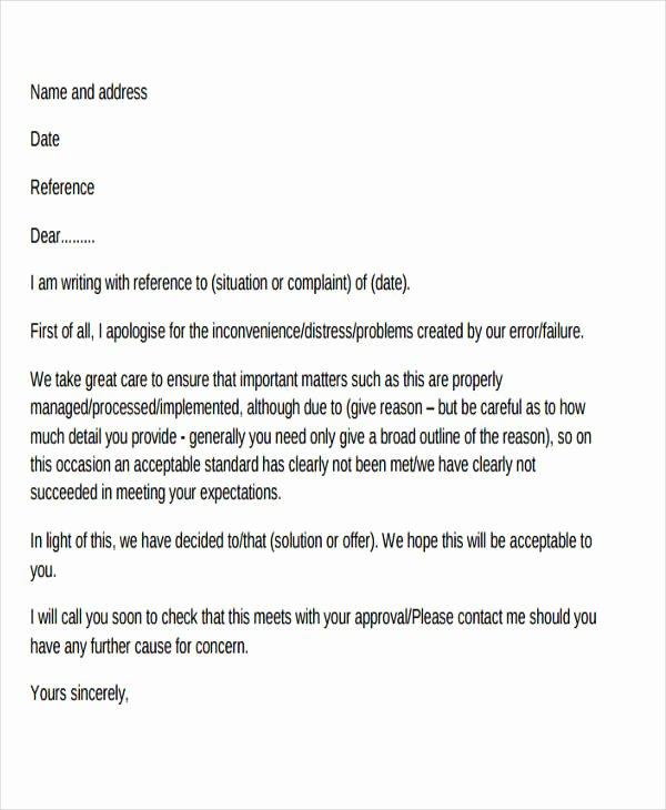 Complaint Response Template Fresh 32 Plaint Letter formats Doc Pdf