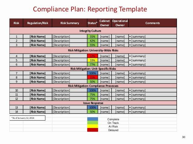 Compliance Audit Report Template Elegant W1 Pliance Program Effectiveness Measuring and