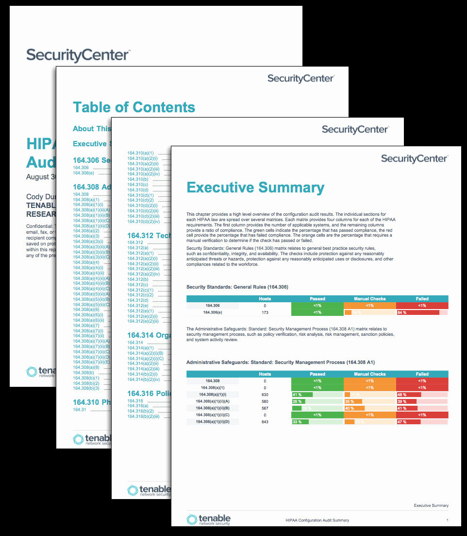 Compliance Audit Report Template Fresh Hipaa Configuration Audit Summary Sc Report Template