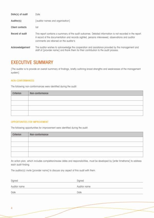Compliance Audit Report Template Inspirational 11 Pliance Audit Report Samples and Templates Pdf