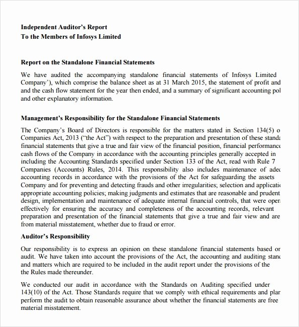 Compliance Audit Report Template Unique Sample Audit Report 16 Documents In Pdf Word