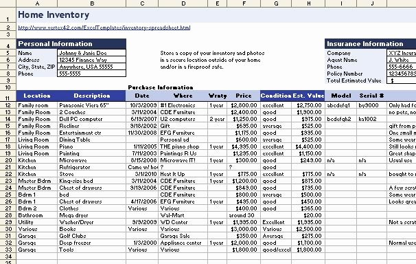 Computer Hardware Inventory Excel Template Lovely Download A Free Home Inventory Spreadsheet