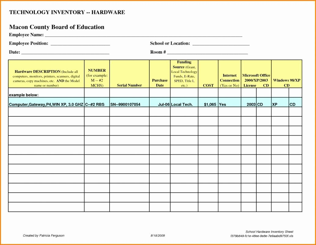 Computer Inventory Template Best Of Puter Inventory List Excel Spreadsheet