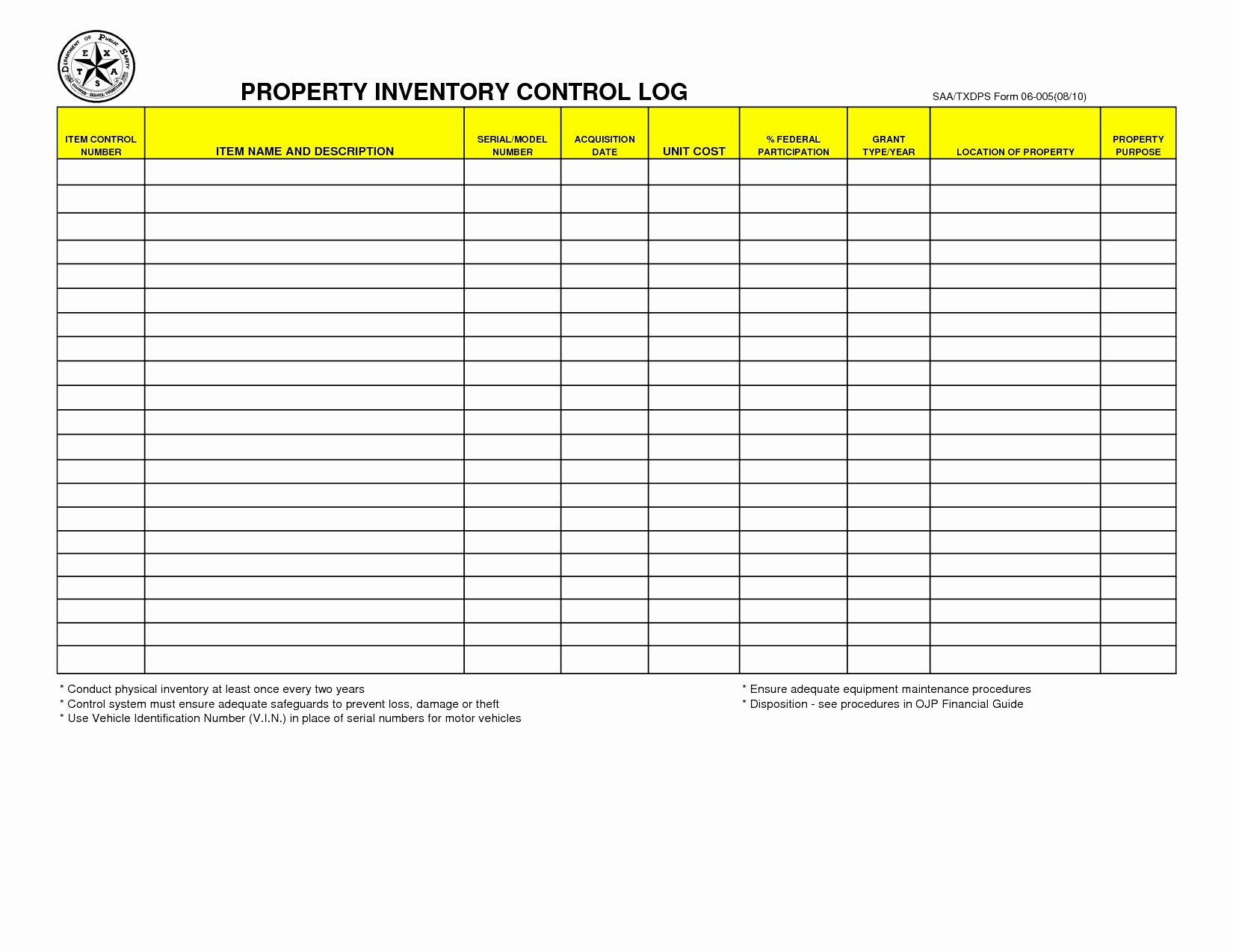 Computer Inventory Template Luxury Equipment Inventory Log Template