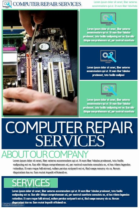 Computer Repair Checklist Template Inspirational Puter Repair Services Template