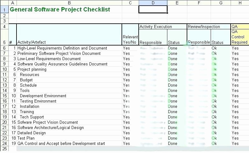 Computer Repair Checklist Template Luxury Server Checklist Template Excel – Syncla